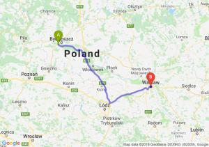 Trasa Białe Błota - Warszawa