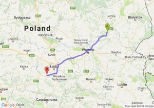 Trasa Ostrów Mazowiecka - Łask
