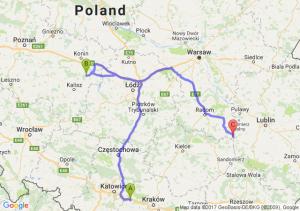 Chrzanów (małopolskie) - Malanów (wielkopolskie) - Kaliszany-kolonia (lubelskie)