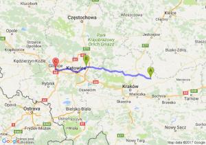 Proszowice - Dabrowa Górnicza - Gliwice
