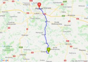 Trasa Piaski - Poznań