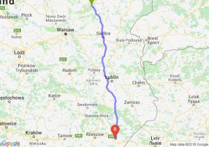 Trasa Ostrów Mazowiecka - Jarosław