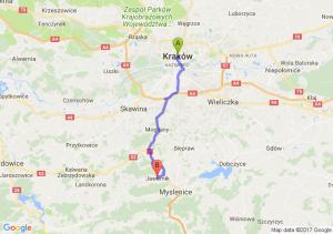 Kraków (małopolskie) - Jawornik (małopolskie)