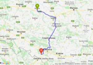 Trasa Konin - Rybnik