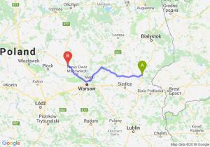 Trasa Siemiatycze - Płońsk