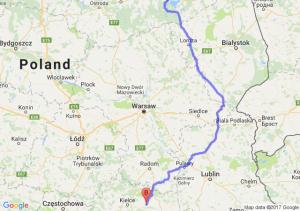 Ryn (warmińsko-mazurskie) - Baszowice (świętokrzyskie)