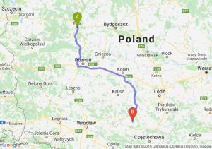 Trasa Piła - Wieluń