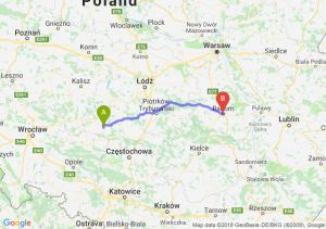 Trasa Wieluń - Radom