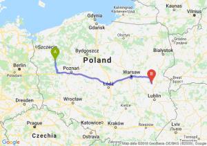 Trasa Drezdenko - Łuków