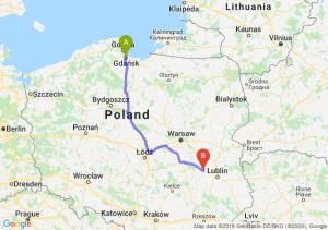 Trasa Gdańsk - Puławy