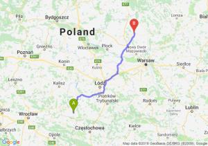 Trasa Wieluń - Ciechanów