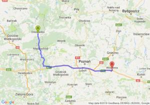 Trasa Drezdenko - Września