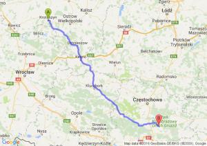 Krotoszyn (wielkopolskie) - Myszków (śląskie)