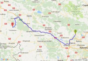 Tarnowskie Góry (śląskie) - Wierzbie (opolskie)