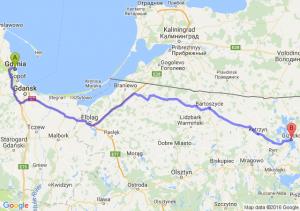 Gdynia (pomorskie) - Giżycko (warmińsko-mazurskie)