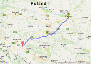 Warszawa (mazowieckie) - Bełchatów (łódzkie) - Brzeg Opolski