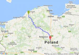 Sławno (zachodniopomorskie) - Toruń (kujawsko-pomorskie)
