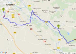 Wrocław Racławicka  - Jelcz-laskowice (dolnośląskie) - Biskupice Oławskie (dolnośląskie)