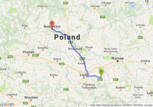 Trasa Rawa Mazowiecka - Bydgoszcz