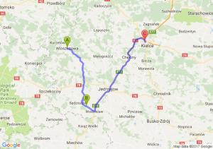 Włoszczowa (świętokrzyskie) - Zielonki (świętokrzyskie) - Kielce Ul Górnicza