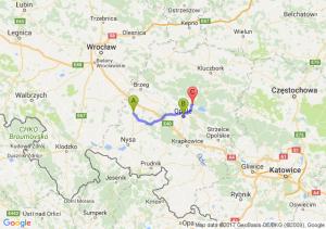 Grodków (opolskie) - Opole (opolskie) - Osowiec Śląski (opolskie)