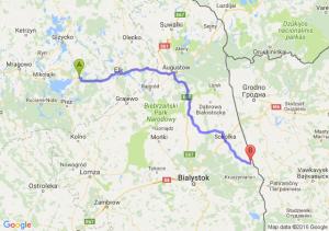 Orzysz (warmińsko-mazurskie) - Krynki (podlaskie)