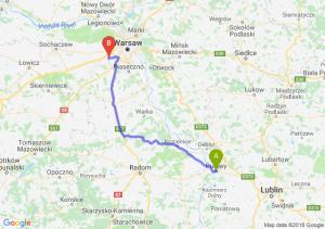 Trasa Puławy - Pruszków