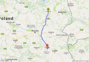 Trasa Łomża - Puławy