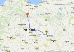 Trasa Płońsk - Warlubie