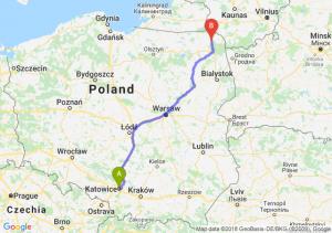 Trasa Katowice - Suwałki