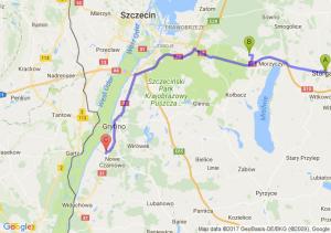 Stargard - Kobylanka (zachodniopomorskie) - Nowe Czasrnowo Elaktrownia