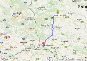 Bytyń (wielkopolskie) - Świeradów-zdrój (dolnośląskie)