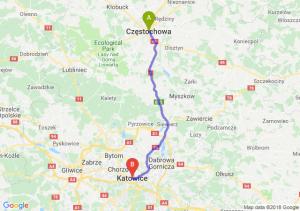 Trasa Częstochowa - Katowice