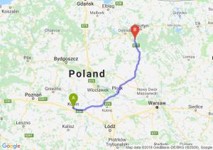 Trasa Konin - Olsztynek