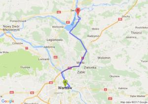 Warszawa - Arciechów (mazowieckie)