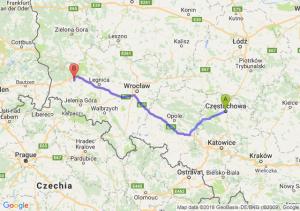 Trasa Częstochowa - Bolesławiec