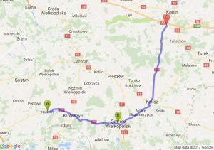 Kobylin (wielkopolskie) - Ostrów  - Modła Królewska (wielkopolskie)