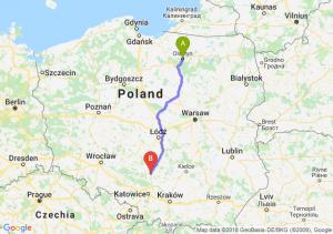 Trasa Olsztyn - Częstochowa
