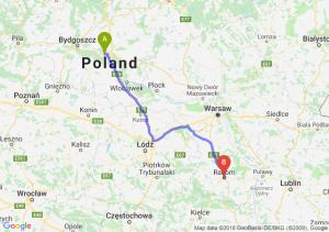 Trasa Toruń - Radom
