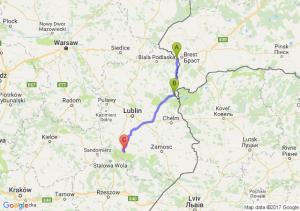 Terespol (lubelskie) - Włodawa (lubelskie) - Borownica (lubelskie)