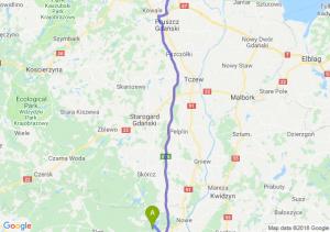 Trasa Warlubie - Gdańsk
