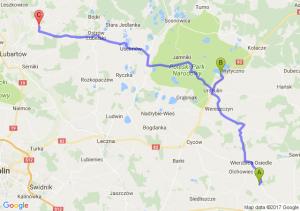 Wierzbica (koło Kamiennej Góry) (lubelskie) - Urszulin (lubelskie) - Tarło (lubelskie)