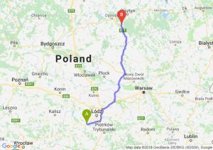 Trasa Łask - Olsztynek