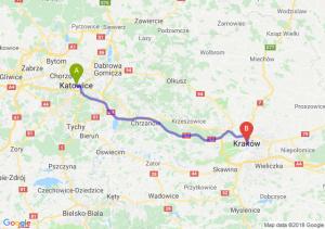 Trasa Katowice - Kraków