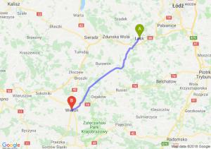 Trasa Łask - Wieluń