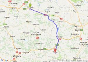 Trasa Września - Wieluń