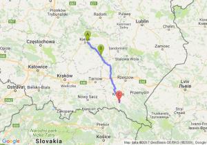 Cedzyna (świętokrzyskie) - Staszow Mielec - Iwonicz Zdroj