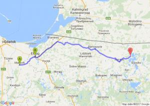 Malbork - Elbląg (warmińsko-mazurskie) - Kamionek Wielki (warmińsko-mazurskie)