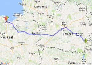 Gdansk Rafineria - Michałki - Straszyn (pomorskie)