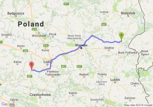 Trasa Siemiatycze - Sieradz
